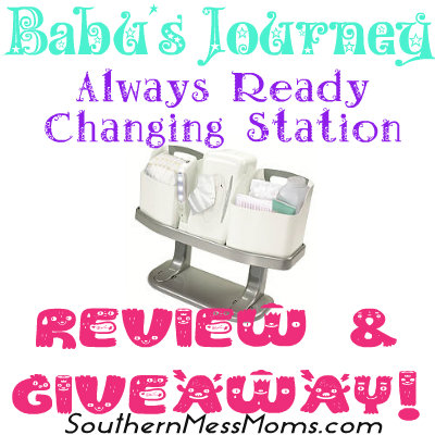 Baby's Journey Changing Station Review & Giveaway