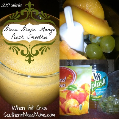 Green Grape Mango Peach Smoothie
